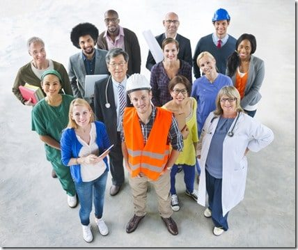 Group of Multiethnic Diverse People with Different Jobs
