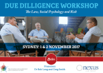 Due Diligence Workshop–Sydney