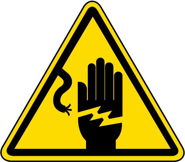 Electrical Shock Warning Label J6533  By Safetysignm