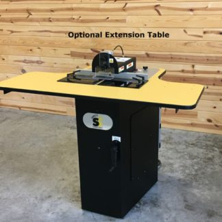 work space extension for screw pocket machine and pocket hole joinery