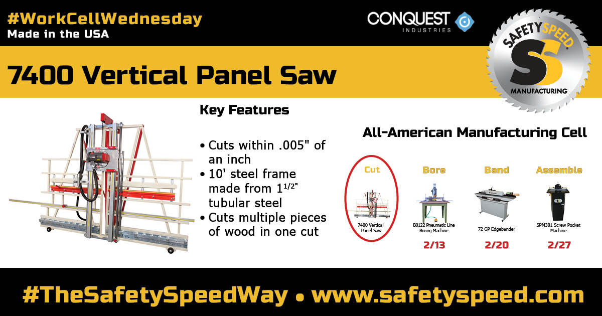 """industrial panel saw that cuts within .005"""" straight and square"""