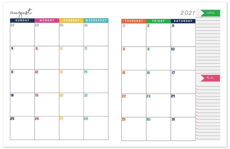 Planner Monthly Calendar Binder - Example Calendar Printable