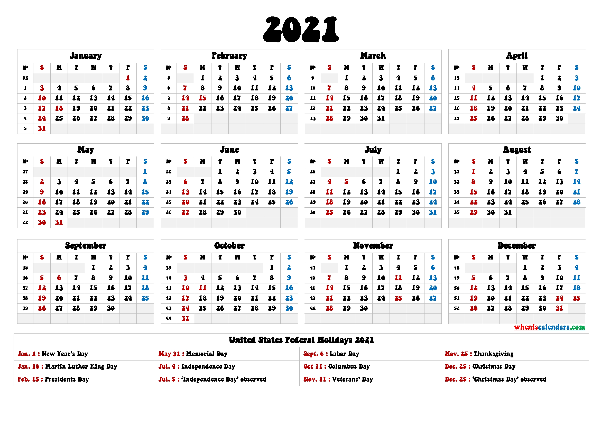 These templates are suitable for a … 4Mmonth Calendar On One Page 2021 - Example Calendar Printable