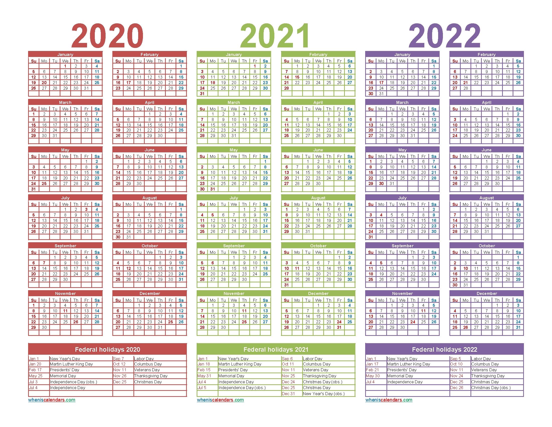 Free Print Calendar 18 Months 2021/2022 - Example Calendar ...