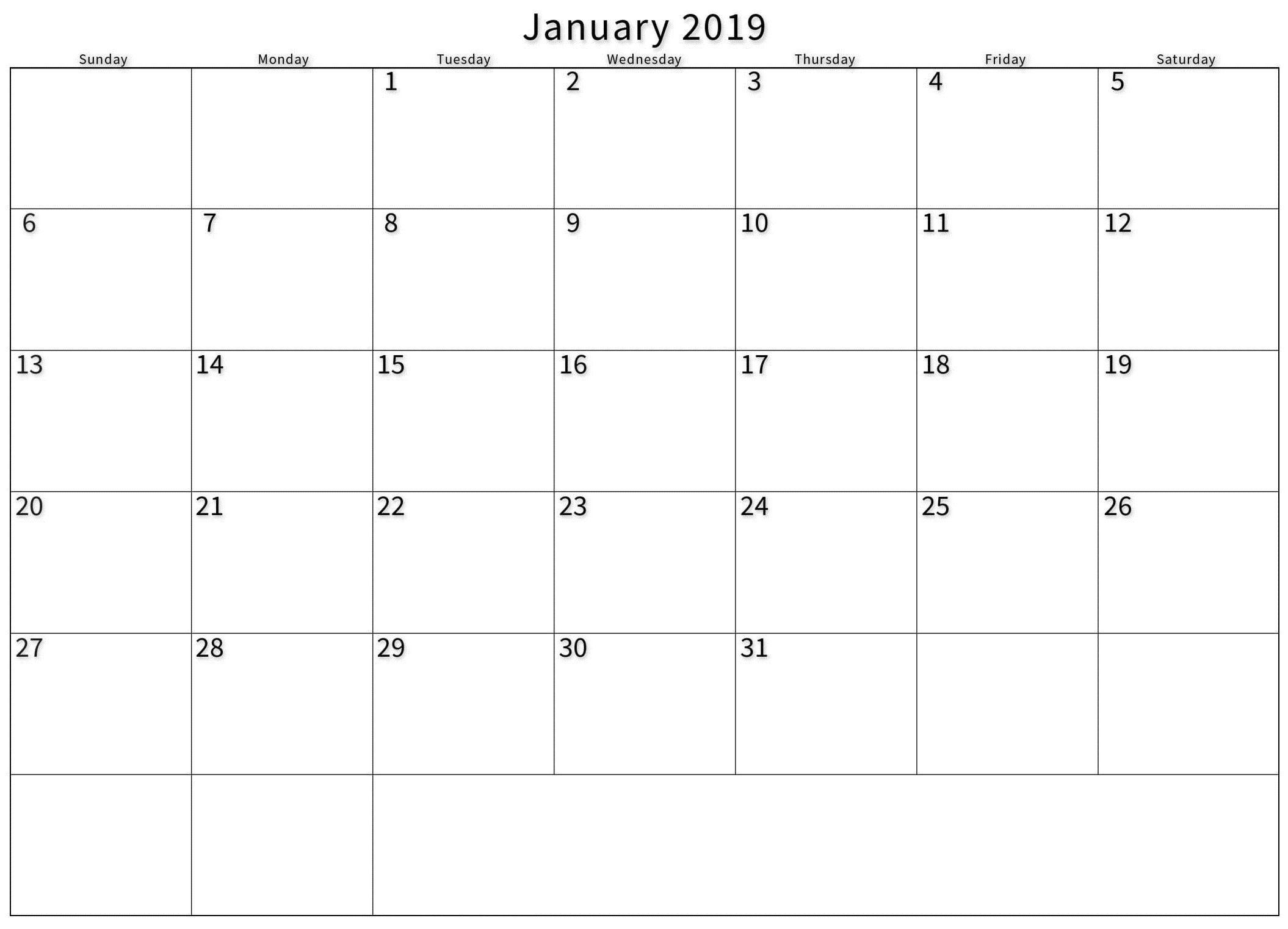 Blank Calendar Outlook Printable - Example Calendar Printable