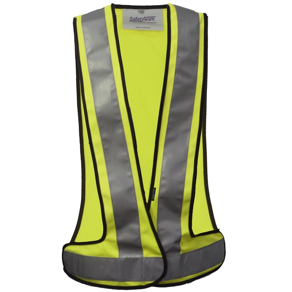 Safetyware V Shape Executive Safety Vest Yellow