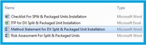 DX Split & Packaged Unit Installation Method Statement