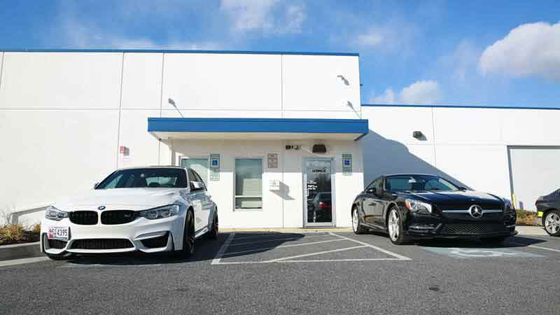 Safford Owings Mills Collision Center Building BMW Certified