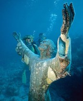 DIVE THE CHRIST OF THE DEEP STATUE IN KEY LARGO