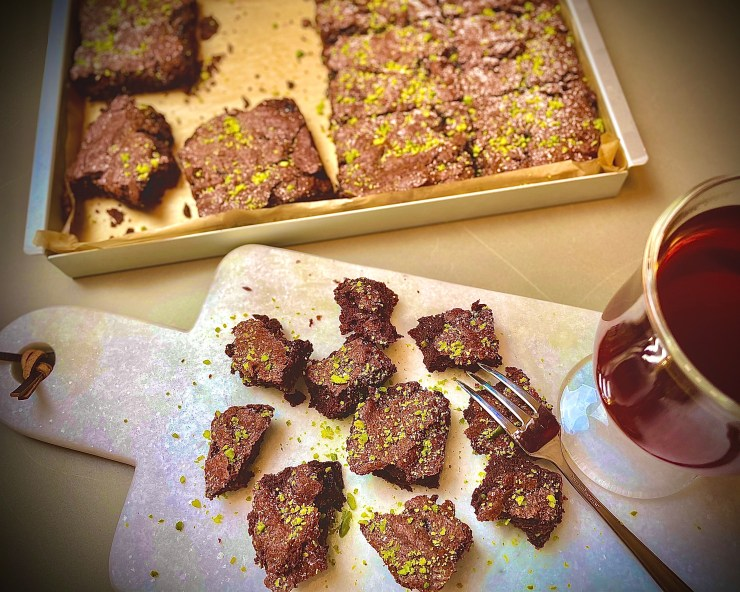 Cherry and Pistachio Brownies