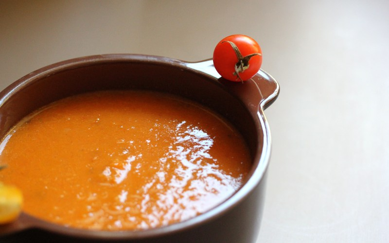 {welcome, fall} + your new favorite tomato-carrot soup