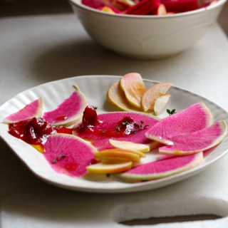 Simple pleasures: watermelon radish and apple slaw
