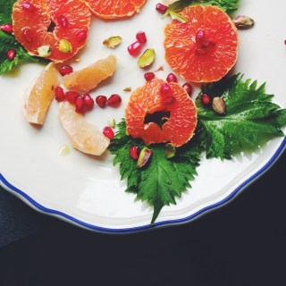 Shiso, pomegranate & blood orange