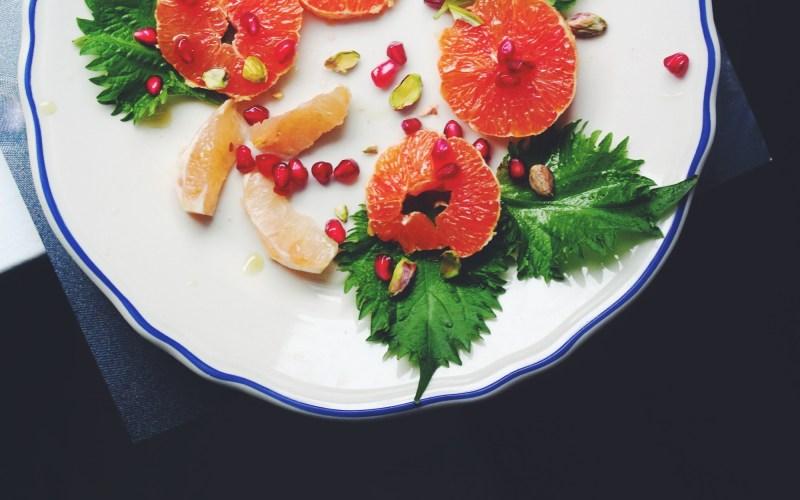 Shiso, pomegranate & blood orange
