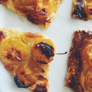 Yellow plum tart