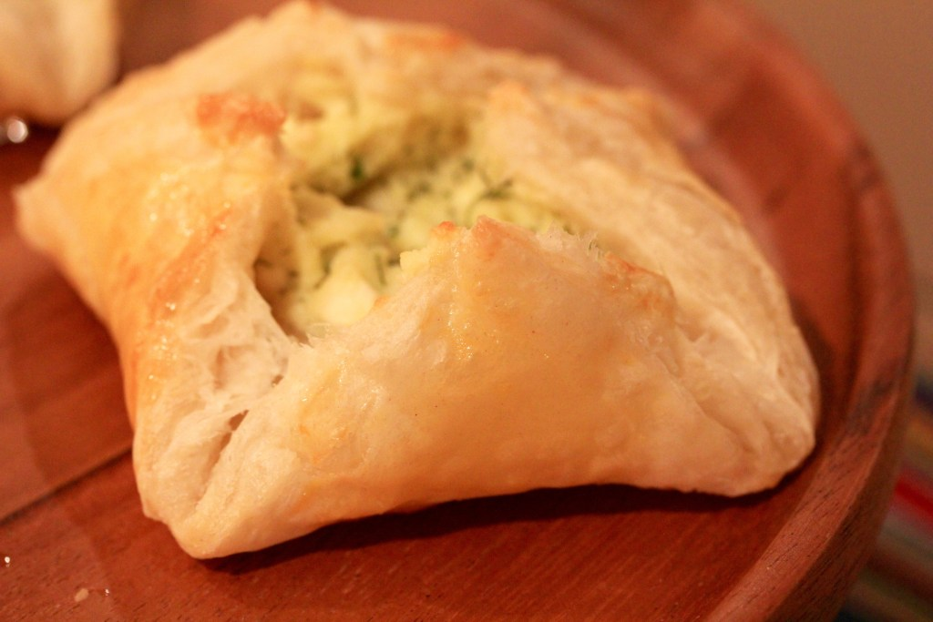 cheese and herb puffs
