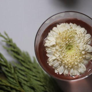 Festive and flowery drink