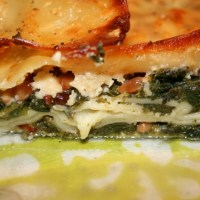 Nettle and spinach lasagne