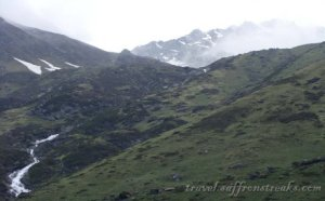 View of higher Himalayas from Kedarnath