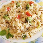 carrot and broccoli rice pilaf
