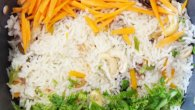 VandeMa Taram… Celebrate this year Independence Day with Tiranga Pulao / pilaf.  Here goes the recipe. Indian tiranga pulao   Recipe: Indian Tiranga / tri-color pulao /pilaf Summary: A beautiful vegetarian pulao with carrots, dryfruits and herbs mildly spiced with nutmeg Ingredients Basmati rice: 1 ½ cup Capsicum: 1 Beans: 2-3 Carrots: 2 Raisins: 10 gm Cashew nuts: 12-15 Almonds: 10 Dates: 6-8 Bay leaves: 2-3 small Black cardamom: 3 Green cardamom: 4-5 Star anise: 1 White peppercorns: 6-8 […]