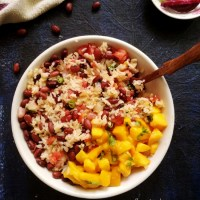 Jamaican Rice And Beans With Mangoes