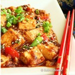 Thai style stir fried tofu with basil