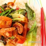 Shrimp with baby bok choy – stir fry at its best
