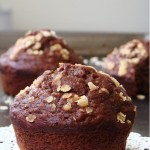 Chocolate banana oat muffins – healthy bites