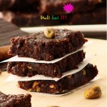 Cardamom scented fig and chocolate fudge / anjeer halwa or barfi for Holi