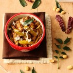 Stir fried ivy gourd / tindora with crushed peanuts and coconut