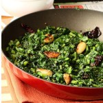 Stir fried garlic – y turnip greens and the yellow lentil soup / dals