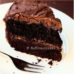 Chocolate cake with mousse filling and covered with ganache – best ever extravagant chocolate cake