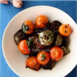 Thai eggplants with cherry tomatoes – a quick stir fry with lots of basil