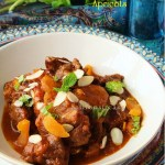 Moroccan lamb tagine with apricots and almonds