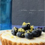 No bake lemon cheesecake with blueberries for summer – eggless and gelatin free