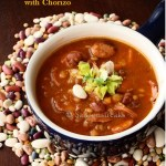 16 bean soup with smoked chorizo – a warm and hearty winter meal