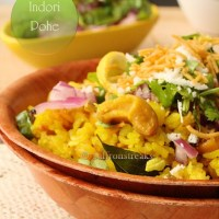 Indori poha / Flattened rice - Indian breakfast