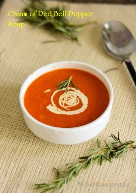 cream of red pepper soup