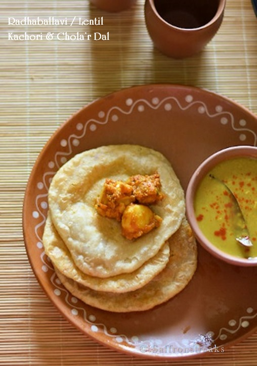 Radhaballavi / kachori and spicy aloo'r dum for Bengali new Year