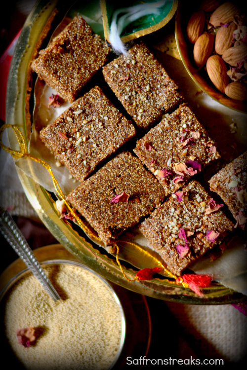 amaranth fudge barfi indian recipe