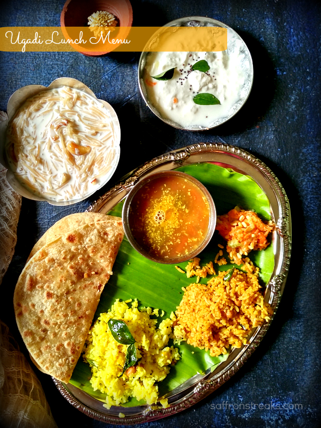 ugadi lunch menu recipes