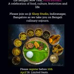 {Event Announcement} Poila Baisakh 2018 Bengali Pop Up Lunch Food Event @ Indiranagar, Bangalore