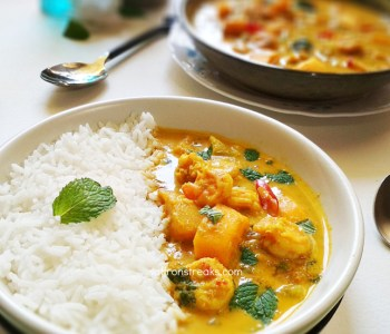 thai shrimp mango curry