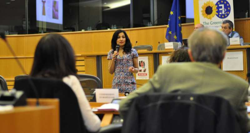 Safia Minney speaking at the UN