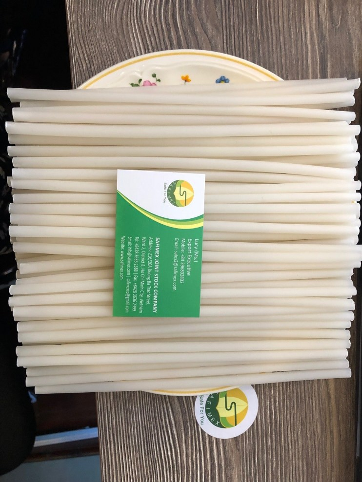 We are colorful and edible rice straws SAFIMEX