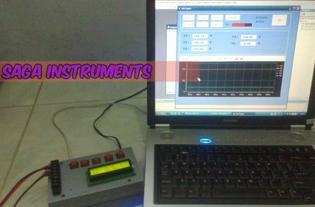 Temperatur oven data logger, thermocouple