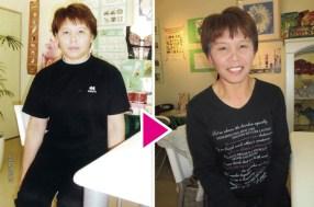 体重68.7kg→57.4kg 体脂肪31.7%→25.8%