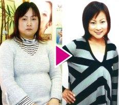 体重66.4kg→53.4kg 体脂肪41.7%→29.7%