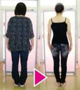 体重62.5kg→52.7kg 体脂肪35%→26.3%